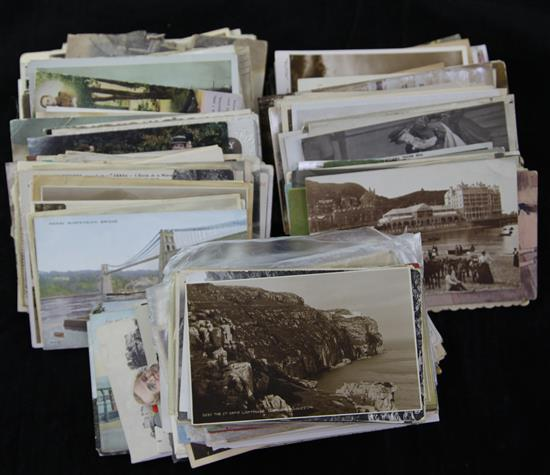 A group of assorted postcards,