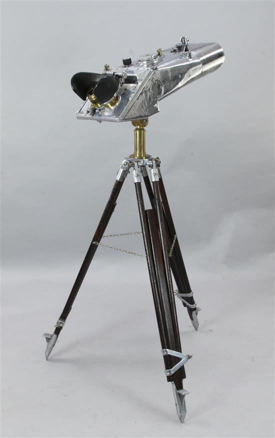A pair of WWII Russian Kraak binoculars, 27in.