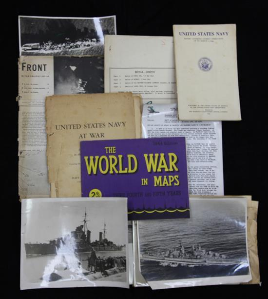 A group of WWII ephemera
