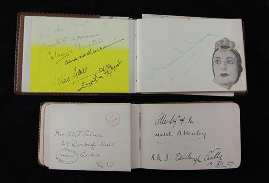 Two 20th century autograph albums, c.1920-1940,