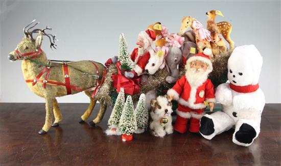 A Steiff Santa's sleigh group,