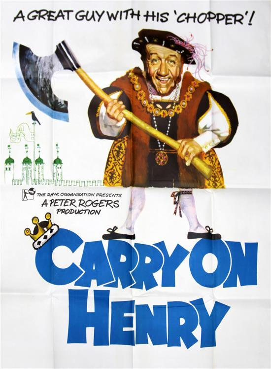 Two British three-sheet film posters, 77 x 39.5in.