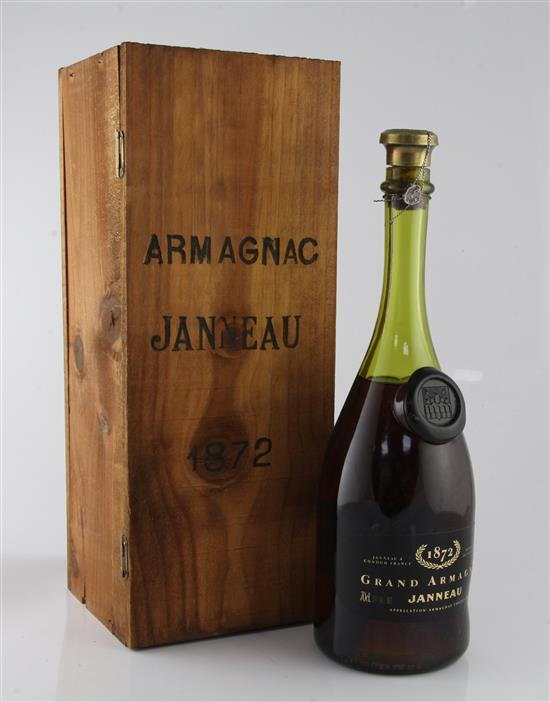 One bottle of Janneau Grand Armagnac 1872,