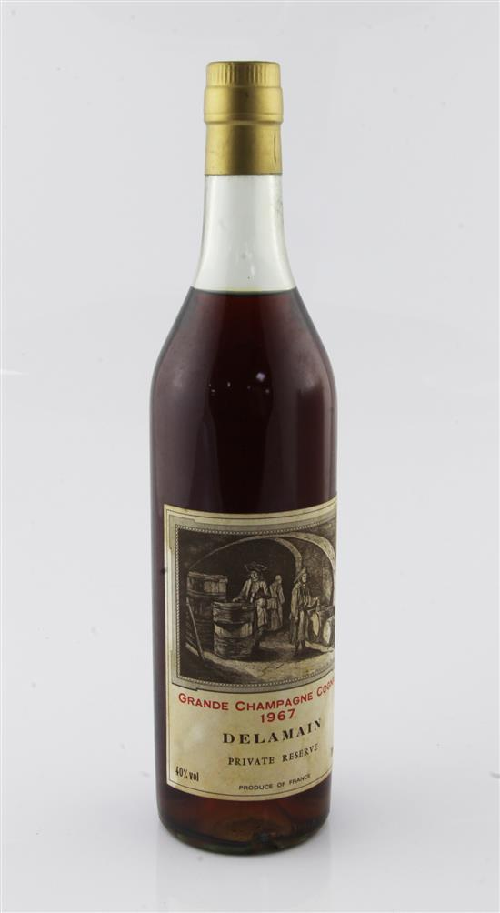 One bottle of 1967 Delamain Grande Champagne Cognac, private reserve,
