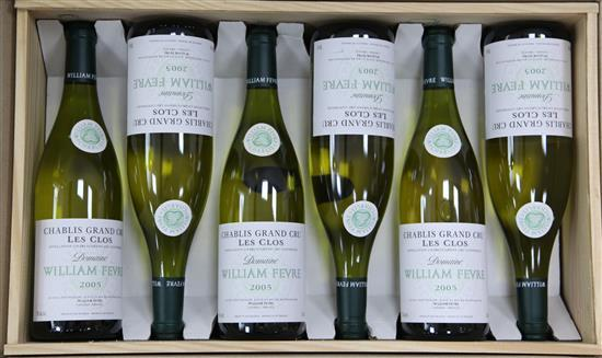 Twelve bottles of William Fevre Chablis Grand Cru Les Clos, 2005,