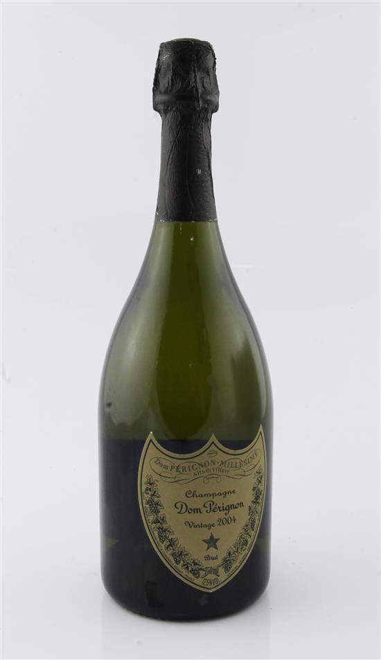 One bottle of Dom Perignon 2004 Vintage Champagne.