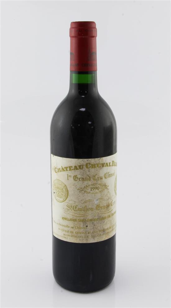 One bottle of Chateau Cheval Blanc 1990, Saint Emilion,