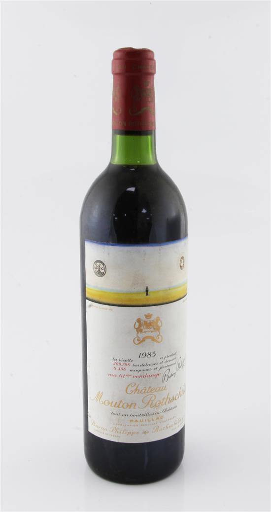 One bottle of Chateau Mouton Rothschild 1983, Pauillac,