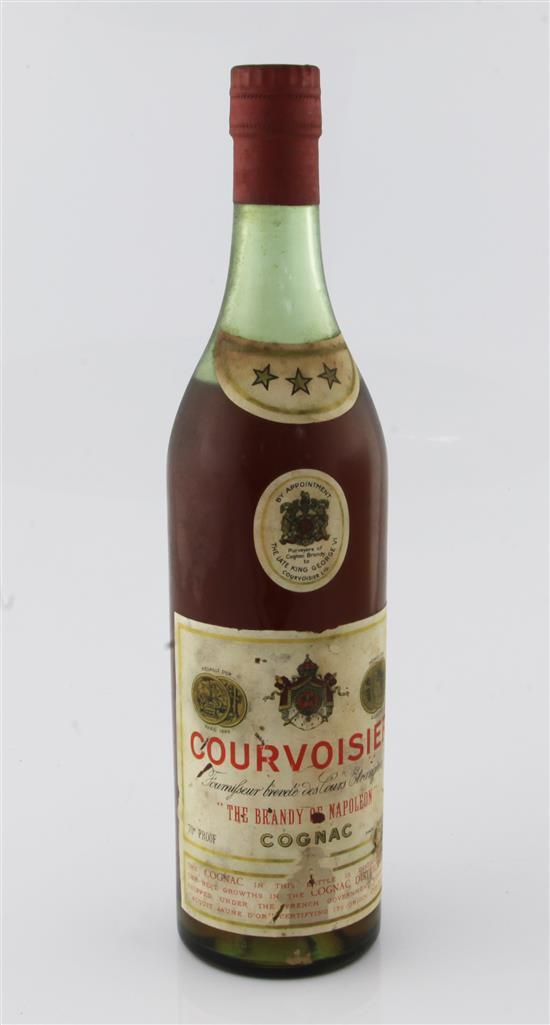 One bottle of 1950's Courvoisier Cognac,