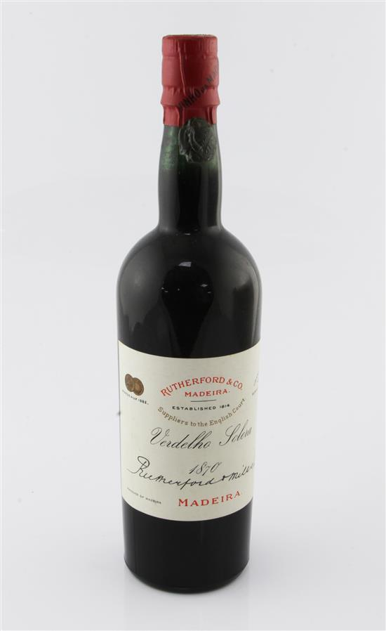 One bottle of Rutherford & Co Verdelho Solera 1870 Madeira,