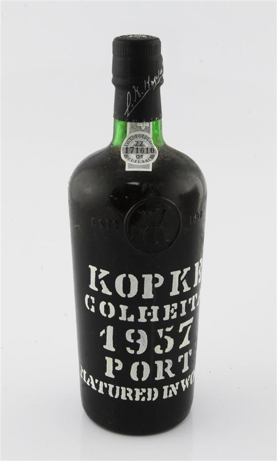 One bottle of Kopke Golheita 1957 Port,