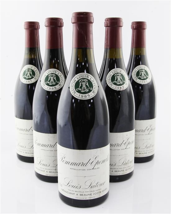 Six bottle of Louis Latour 1er Cru Pommard-Epenots 1985,