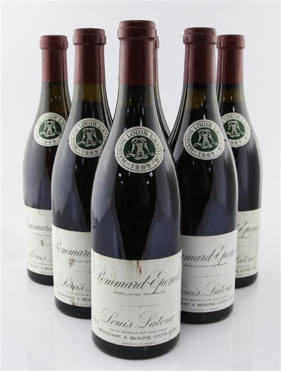Six bottles of Louis Latour 1er Cru Pommard-Epenots 1985,