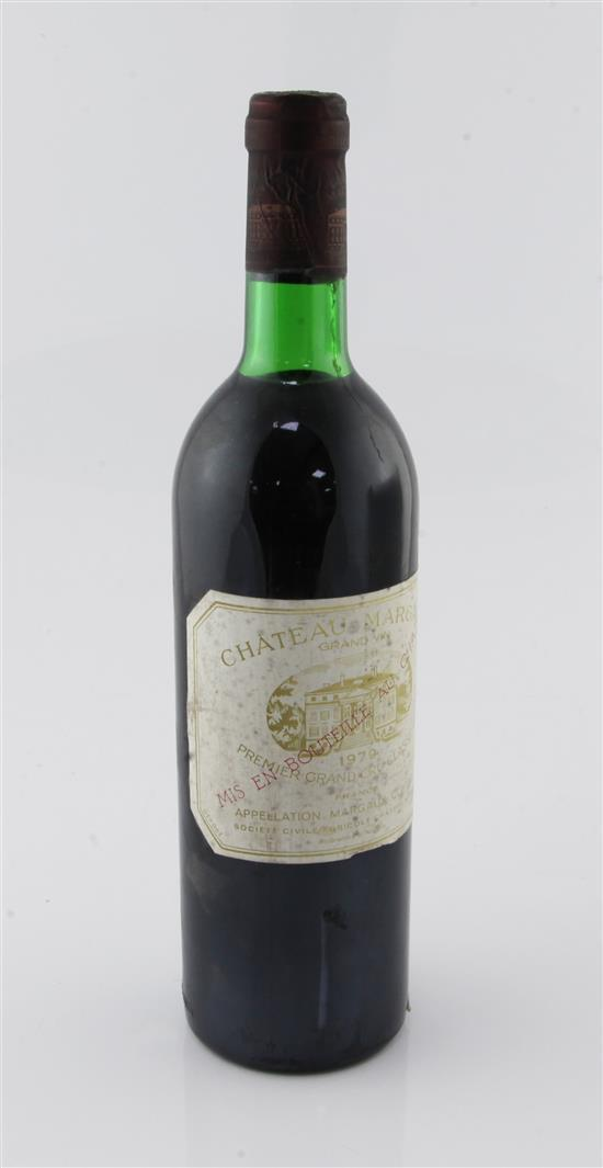 One bottle of Chateau Margaux 1979,