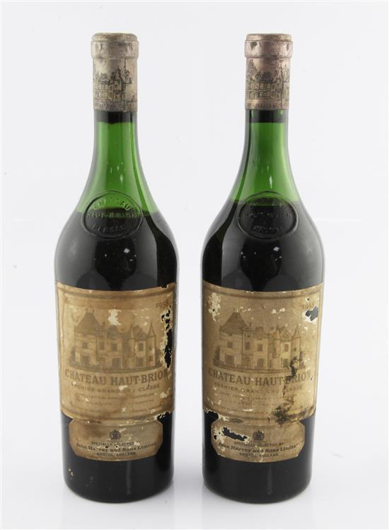 Two bottles of Chateau Haut-Brion, 1958, Graves,