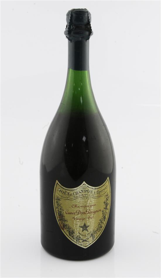 One bottle of Dom Perignon 1961 Vintage Champagne.