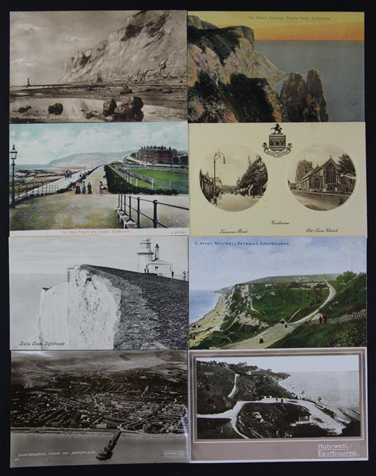 Eastbourne postcards - Late Victorian, Edward VII, George V and later,