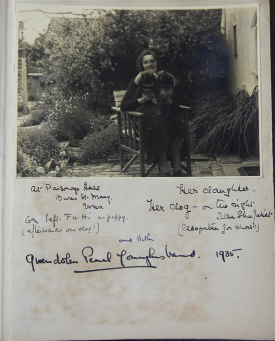 A remarkable diary containing Alfred Schwarzschild (1874-) sketches, letters from famous people of the day c.1935