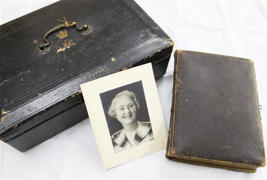 Sir George Ferguson Bowen. A Victorian Government black leather despatch box,