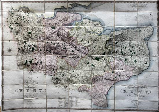 Greenwood (C), Map of the County of Kent from an actual Survey...', 1821,