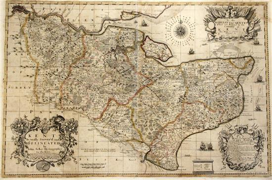 Seller, John - Map of Kent,