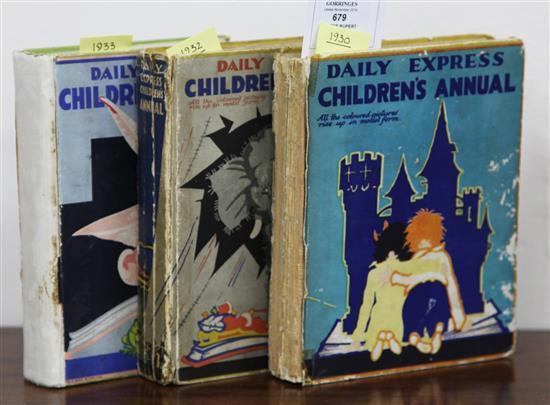 Rupert the Bear - Daily Express Children's Annual, 1930, 1932 & 1933