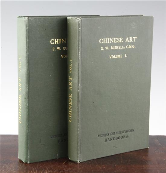 Two volumes Chinese Art, by S.W. Bushell, CMG., Victoria Museum Handbooks, 1924