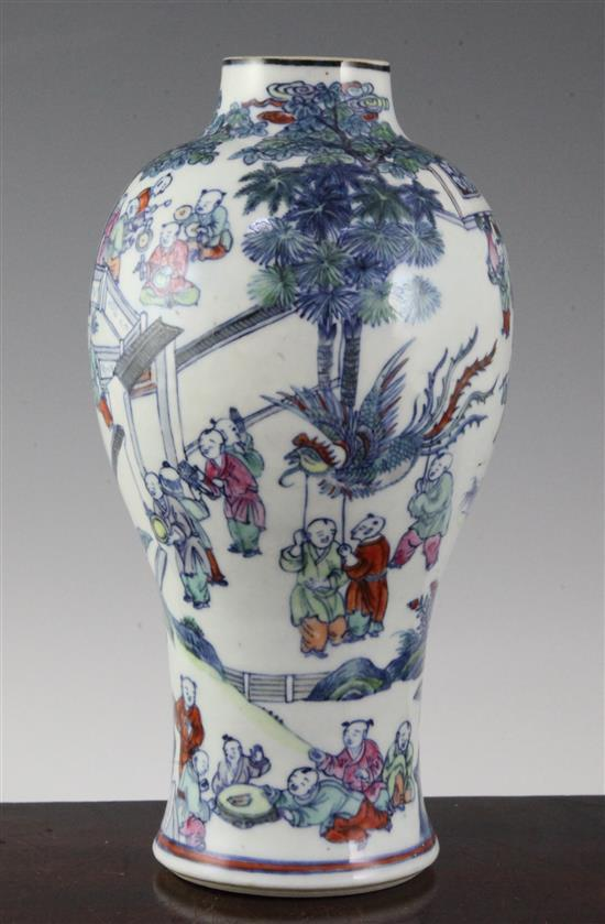 A Chinese 'Hundred Boys' baluster vase, 18th century, 23.5cm
