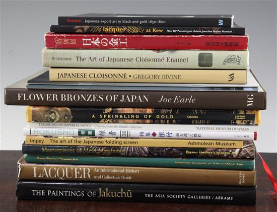 A collection of Japanese bronzes, works of art and ceramics reference books and catalogues