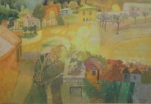 § Leonard Rosoman (1913-2012) 'High Summer' 11.75 x 17in.