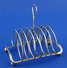 A George III silver seven bar toastrack by Matthew Boulton, 8.5 oz.