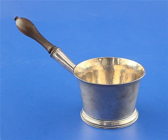 A George III silver brandy saucepan by John Denzilow, gross 5 oz.