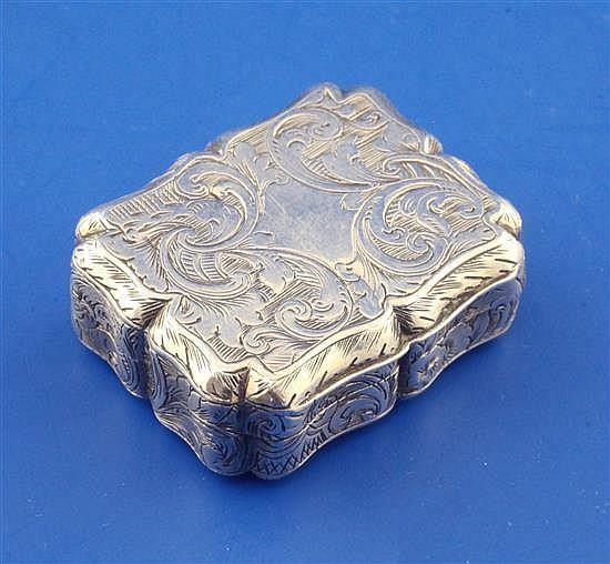 A Victorian silver vinaigrette, 1.25in.