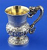 A mid 19th century Chinese Export silver christening mug by Leeching, Canton, (c.1840-c.1870), 5.5 oz.
