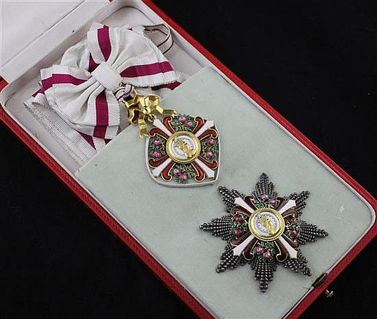 An Austrian Order of Elizabeth Grand Cross star (1898-1918) and matching Grand Cross sash badge