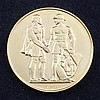 A Swiss 900 standard gold 600 year commemorative medal (1353-1953).