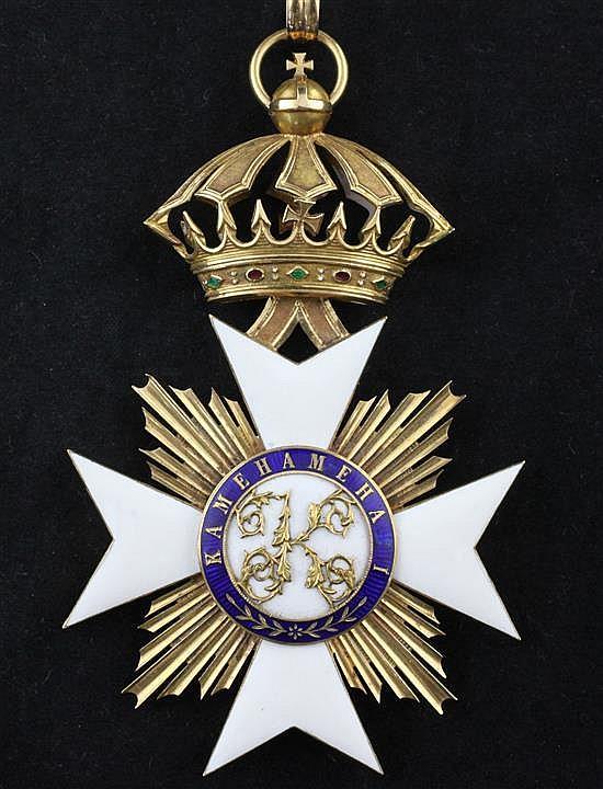 A Hawaiian Royal Order of Kamehameha I Commanders Cross 4.5in