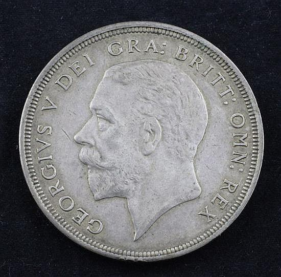 A George V 1933 silver crown,