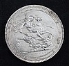 A George III silver crown 1818 LIX,