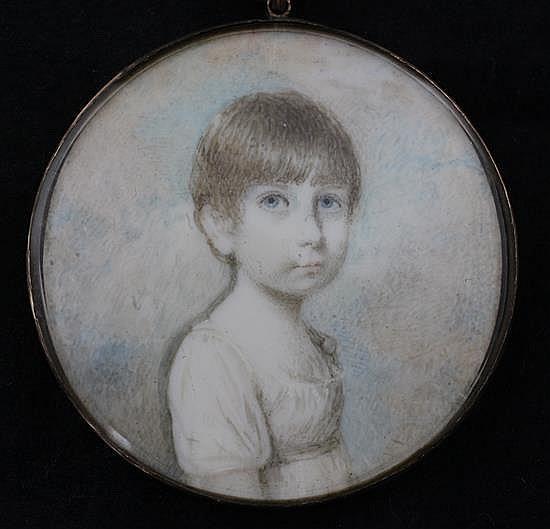 Early 19th century English School Miniature of Elizabeth Martha Otway (The Hon. Martha Prittie) 1.75in., gold framed