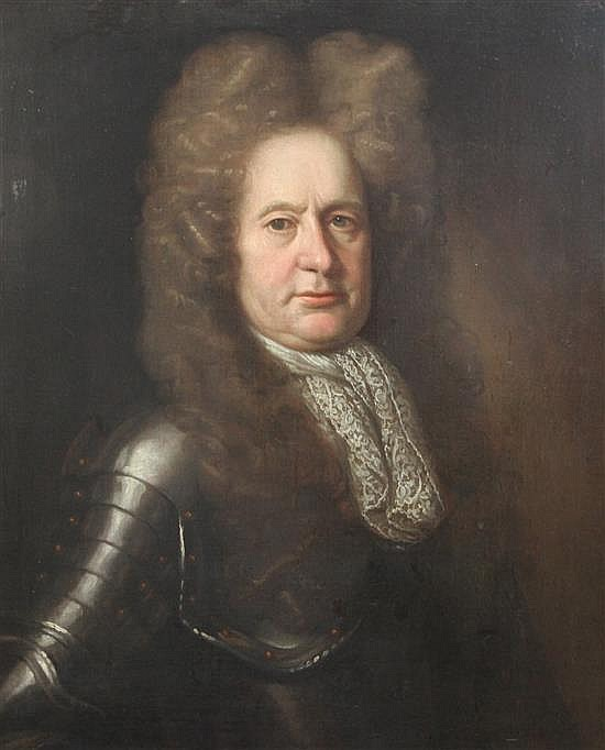 Follower of Godfrey Kneller (c. 1646-1723), oil on canvas, portrait of General Francis Palmes (d. 1719)