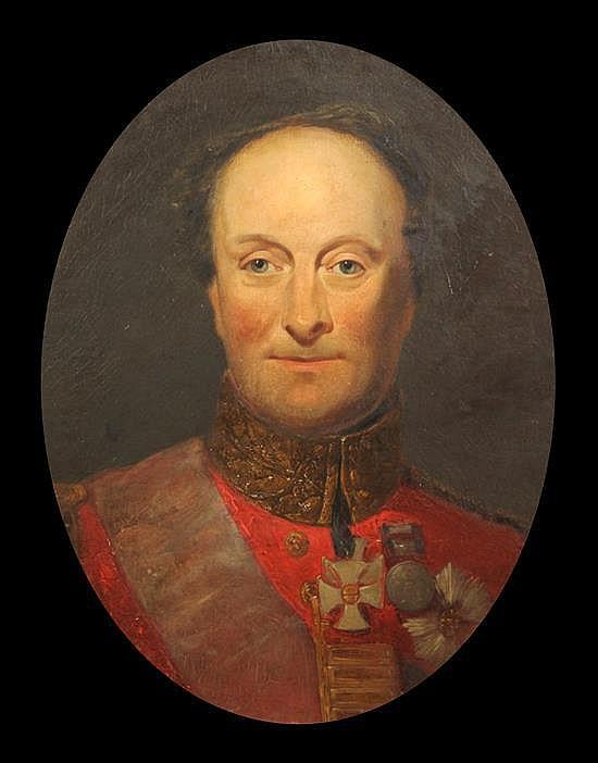 Late 19th century English School Portrait of a Duke in military uniform 21 x 17in.