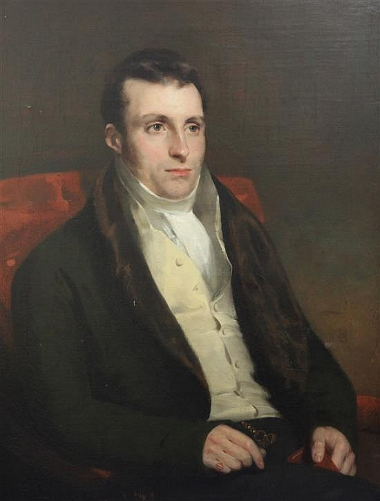 Sir John Watson Gordon (1788-1864) Portrait of Alexander Blackie, possibly Manager of the Bank of Scotland, Aberdeen 35 x 27in.