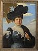 Scottish School Portrait of Isabella Proctor-Patterson of Aberdeen 34 x 25in.