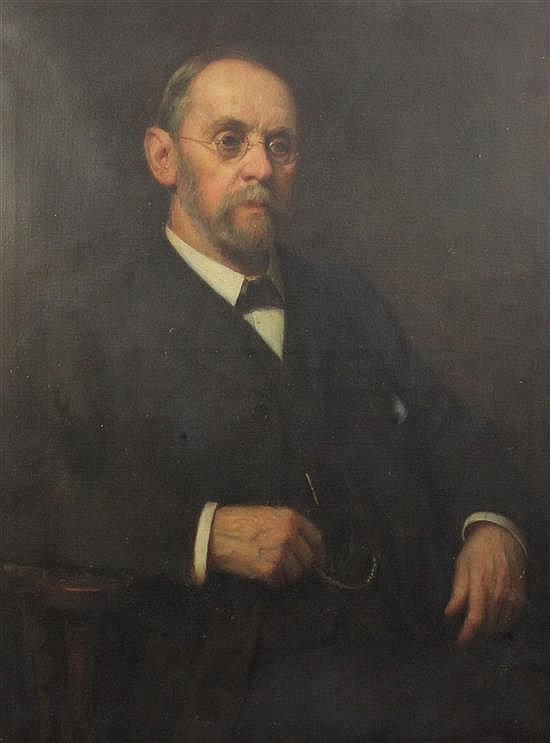 Robert Edward Morrison (1852-1925) Portrait of William Henry Nicholson (b.1837) 40 x 30in.
