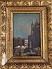 After Guardi Figures in St Mark's Square, Venice 9 x 6in.