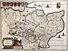 Jan Jansson Map of Cantium Vernacule Kent 15.5 x 21in.