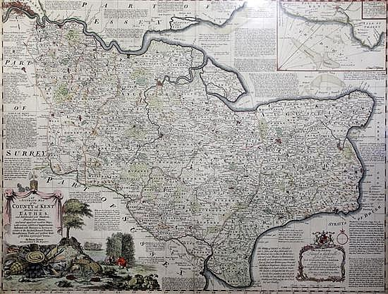 Emmanuel Bowen Accurate map of the County of Kent 20.5 x 28in.