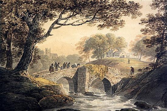William Payne (1760-1830) Slough Bridge 8 x 11.75in.