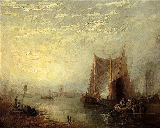 After J.M.W. Turner Evening Glow 14 x 17in.